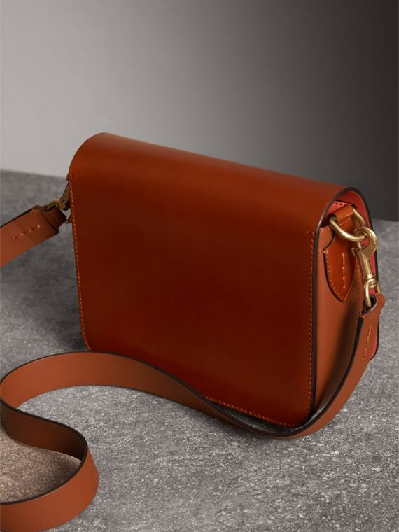 The Square Satchel in Bridle Leather in Tan - Women | Burberry Australia - cell image 3