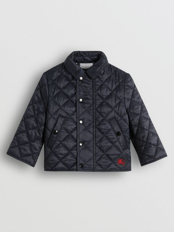Lightweight Diamond Quilted Jacket in Ink