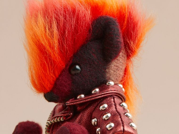 The Punk Thomas Bear Charm in Studded Lambskin Claret - cell image 1