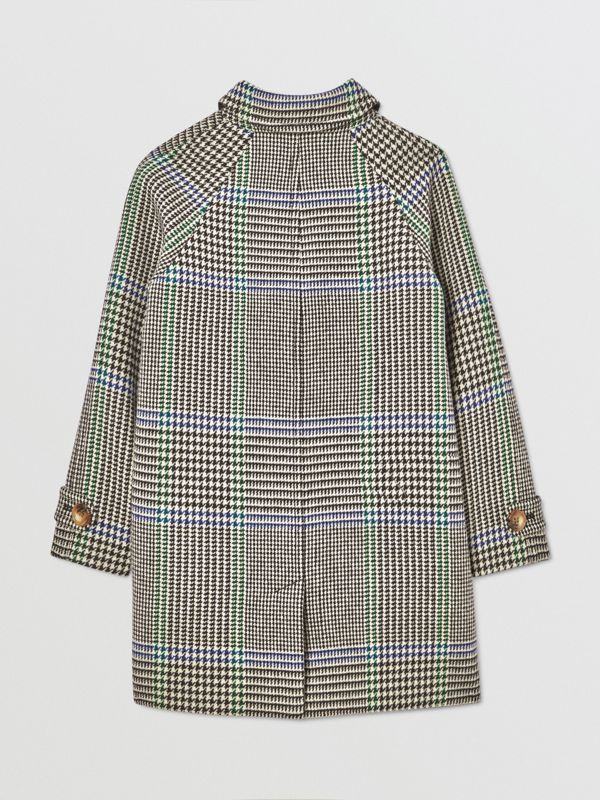 Houndstooth Check Wool Blend Car Coat in Clover Green | Burberry Hong Kong S.A.R - cell image 3