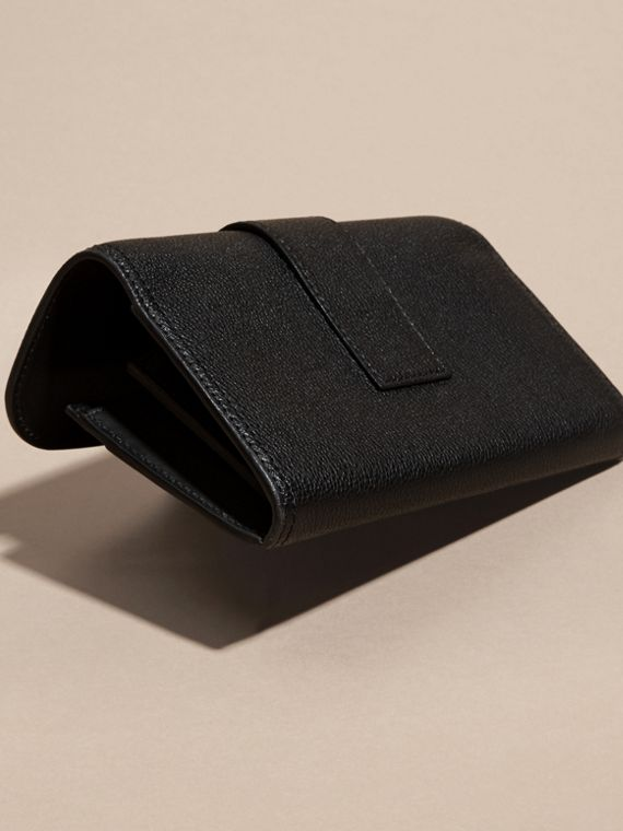 Black Textured Leather Continental Wallet Black - cell image 2