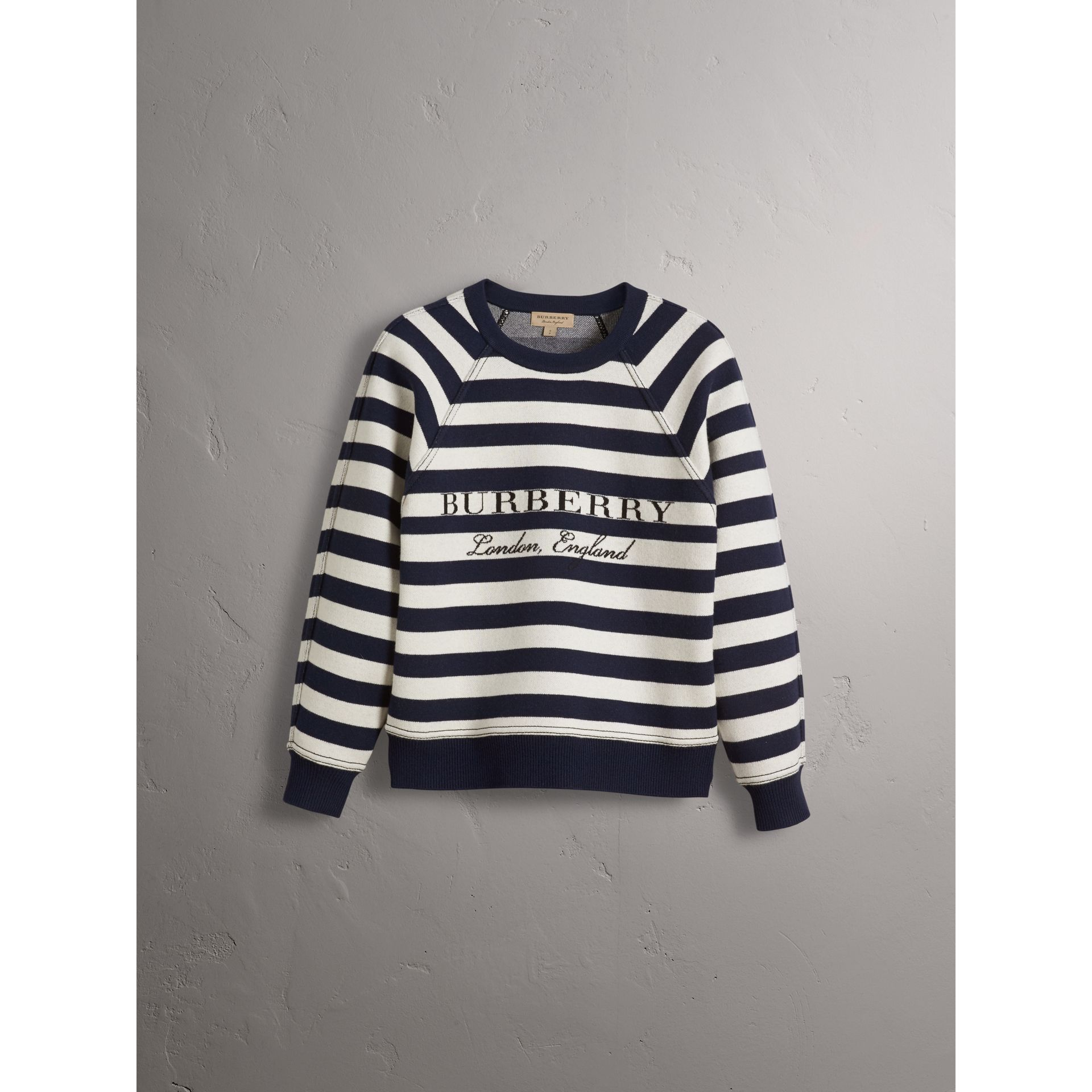 Breton Stripe Wool Cashmere Blend Sweater - Women | Burberry - gallery image 4