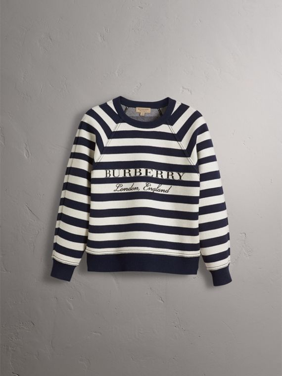 Breton Stripe Wool Cashmere Blend Sweater - Women | Burberry - cell image 3
