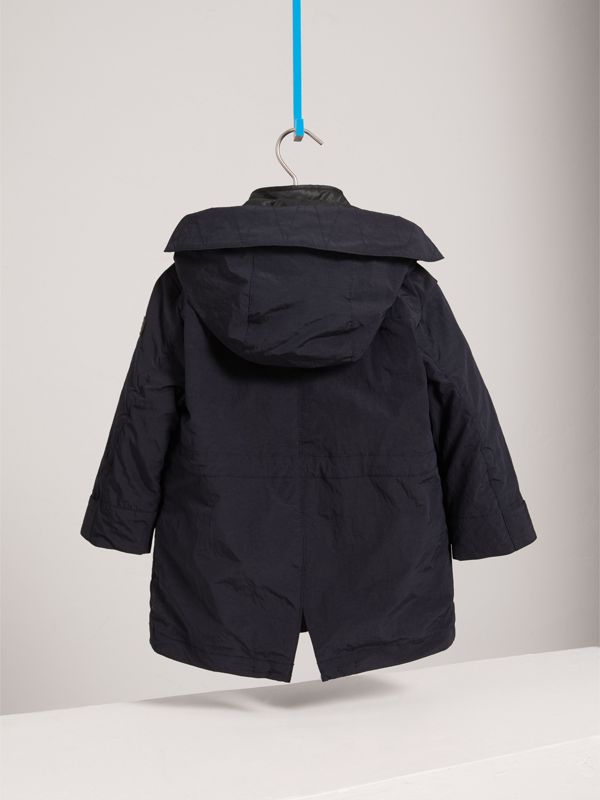 Parka with Detachable Down-filled Hooded Warmer in Navy | Burberry - cell image 3