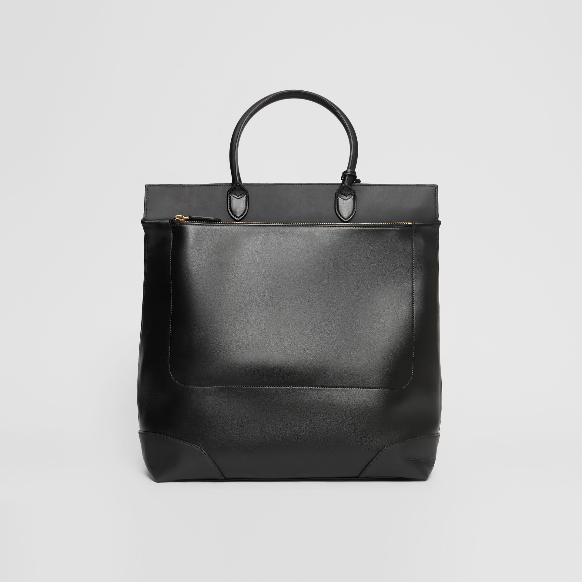 Leather Portrait Society Tote in Black - Men | Burberry - gallery image 6