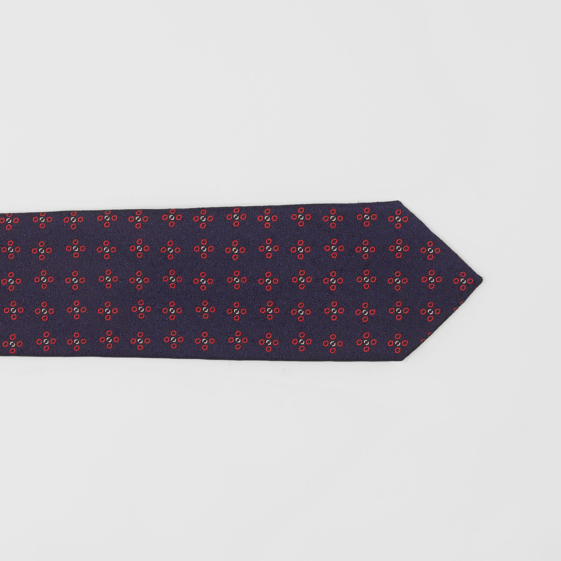 Modern Cut Graphic Floral Silk Jacquard Tie in Military Red - Men | Burberry - gallery image 1