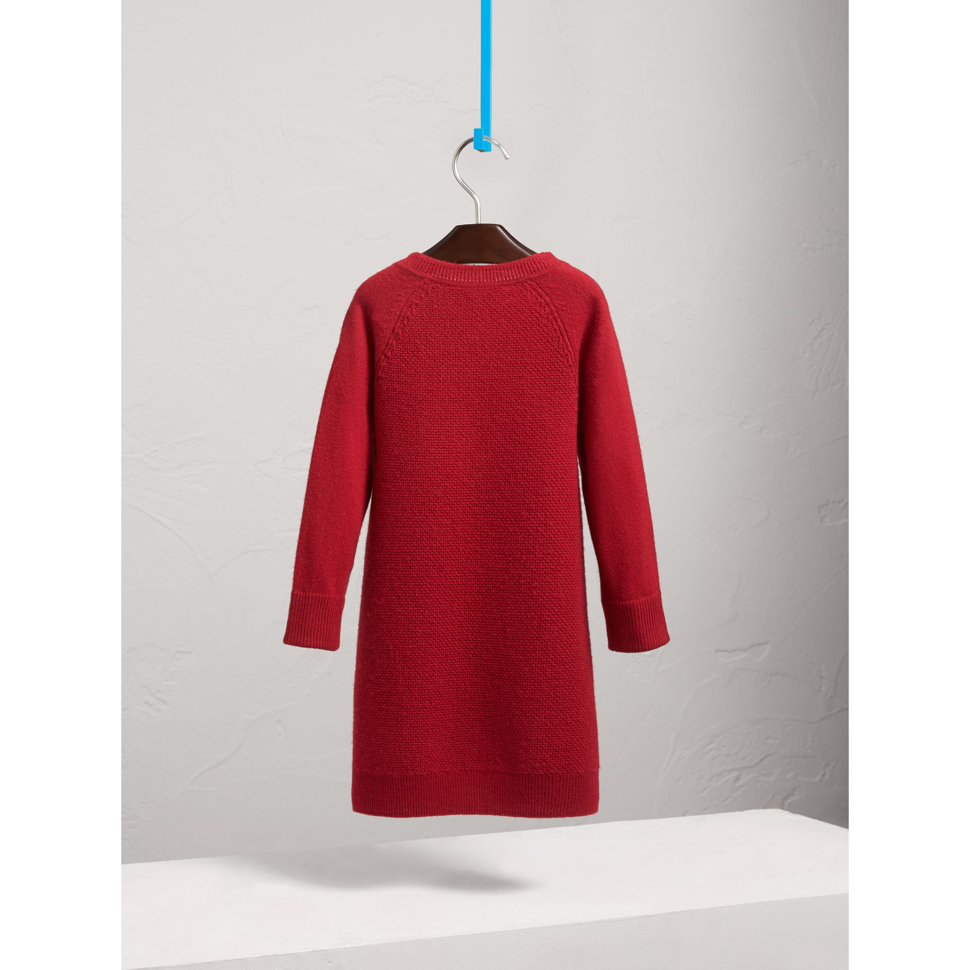 Cashmere Sweater Dress in Parade Red - Girl | Burberry - gallery image 3