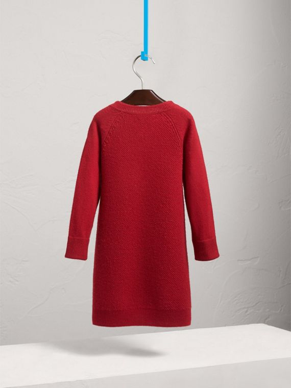 Cashmere Sweater Dress in Parade Red - Girl | Burberry - cell image 3
