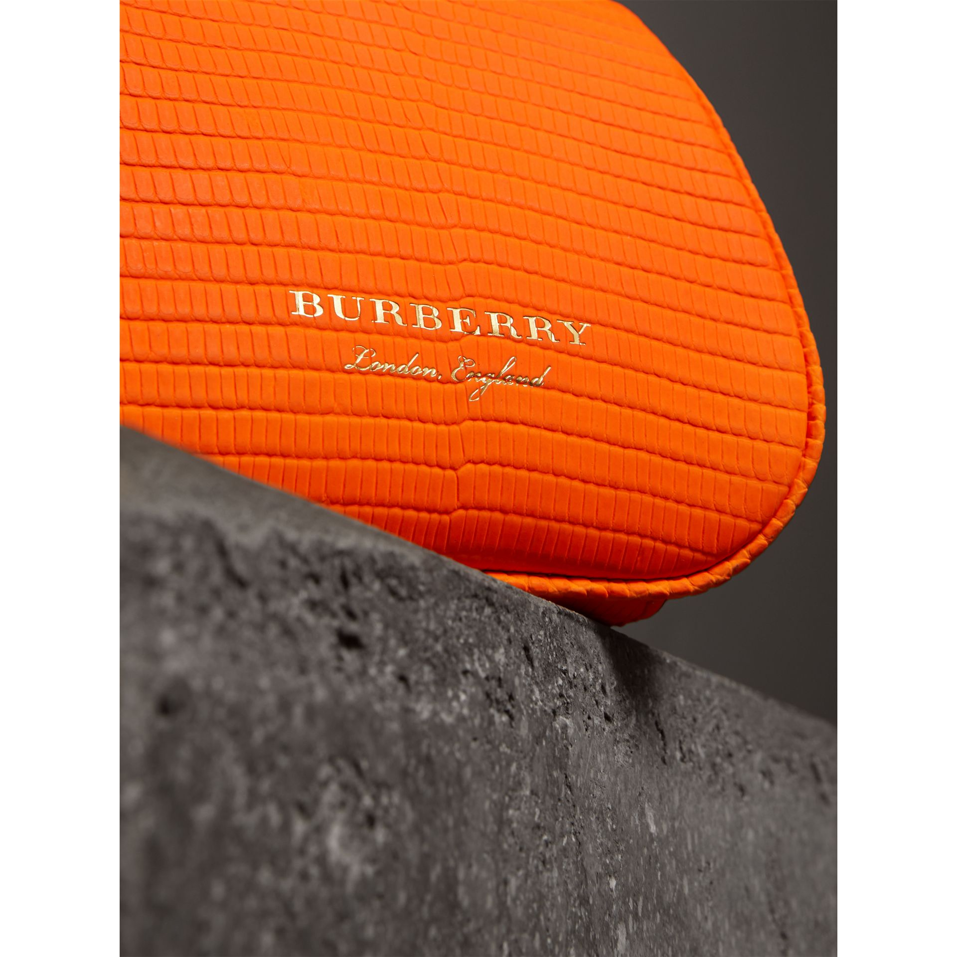 Mini Lizard Frame Bag in Neon Orange - Women | Burberry - gallery image 1