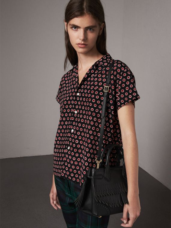 The Small Banner with Brogue Detail in Black - Women | Burberry Singapore - cell image 2