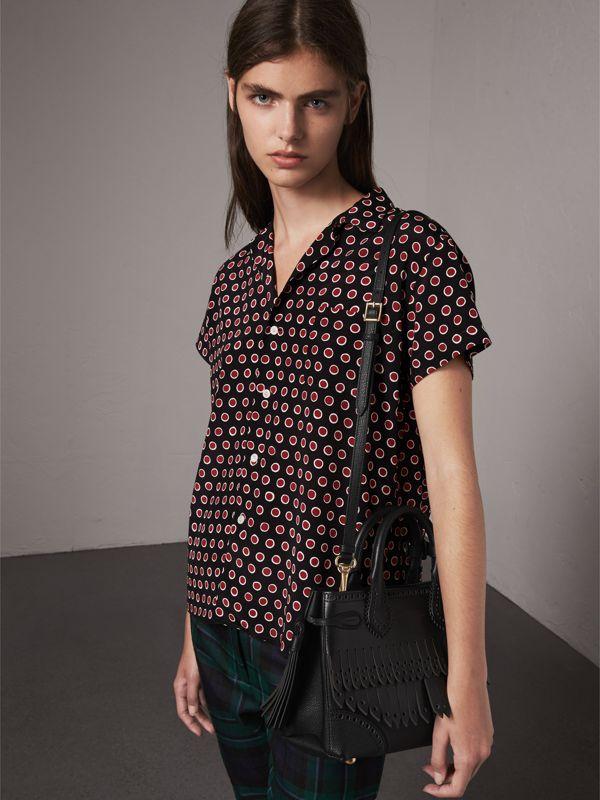 The Small Banner with Brogue Detail in Black - Women | Burberry - cell image 2