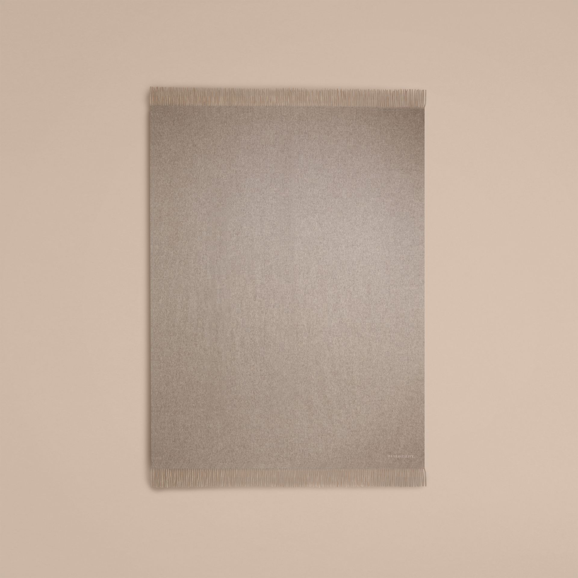 Cashmere Blanket in Pale Grey - gallery image 3
