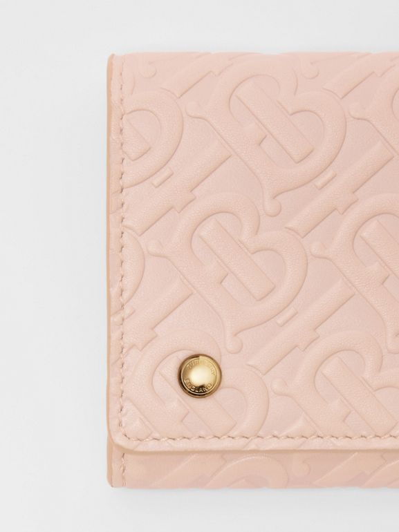 Monogram Leather Continental Wallet in Rose Beige - Women | Burberry United Kingdom - cell image 1