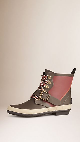 Colour Block Weather Boots