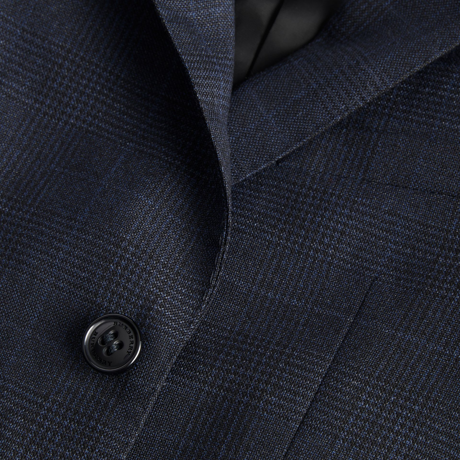 Prince of Wales Check Wool Blazer in Bright Navy | Burberry - gallery image 1