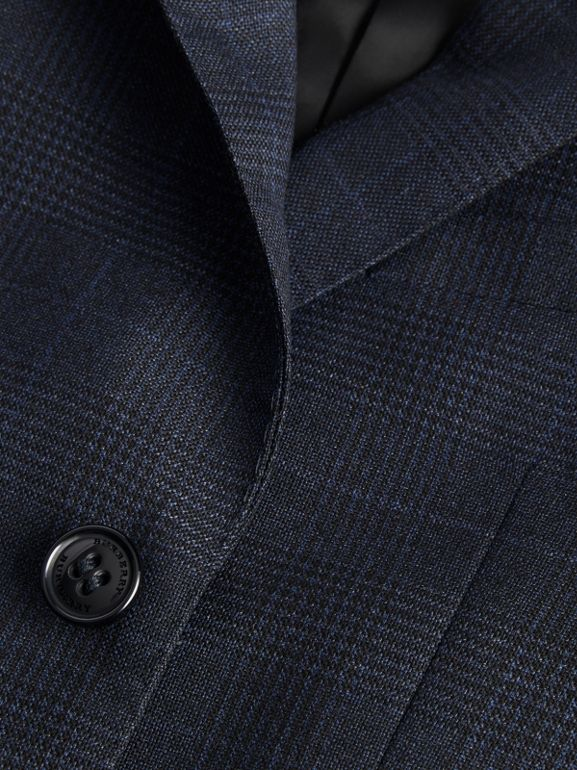 Prince of Wales Check Wool Blazer in Bright Navy | Burberry Australia - cell image 1
