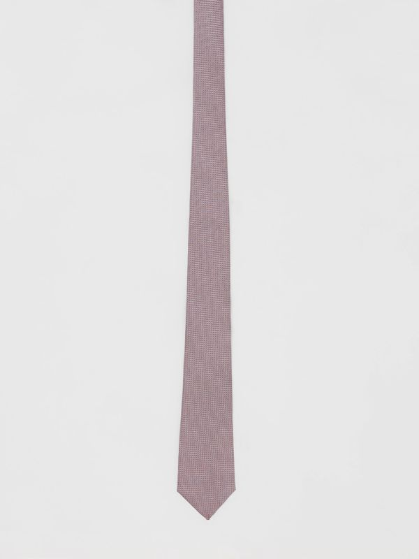 Classic Cut Micro Dot Silk Jacquard Tie in Hydrangea Pink - Men | Burberry - cell image 3