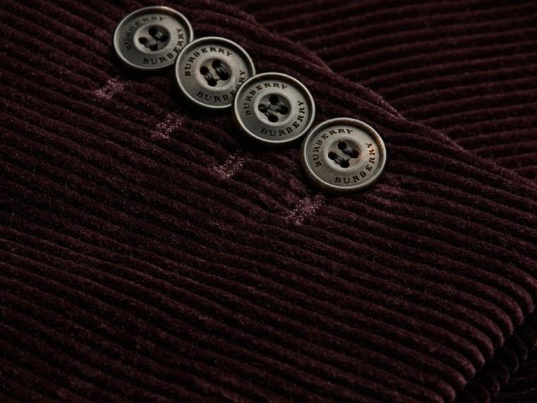 Violet indigo Veste de costume slim en coton côtelé - cell image 1