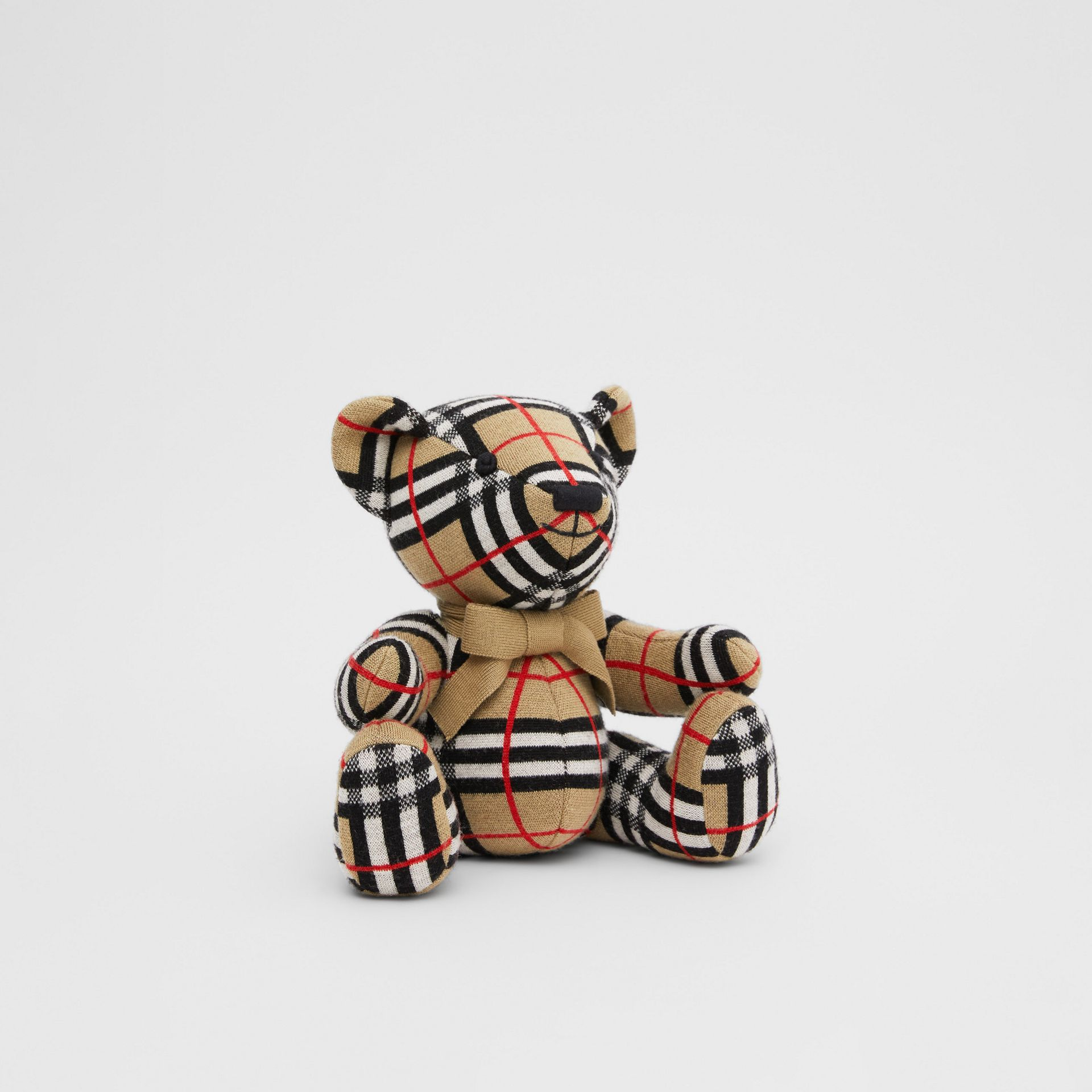 Check Merino Wool Thomas Bear in Archive Beige - Children | Burberry United States - gallery image 3