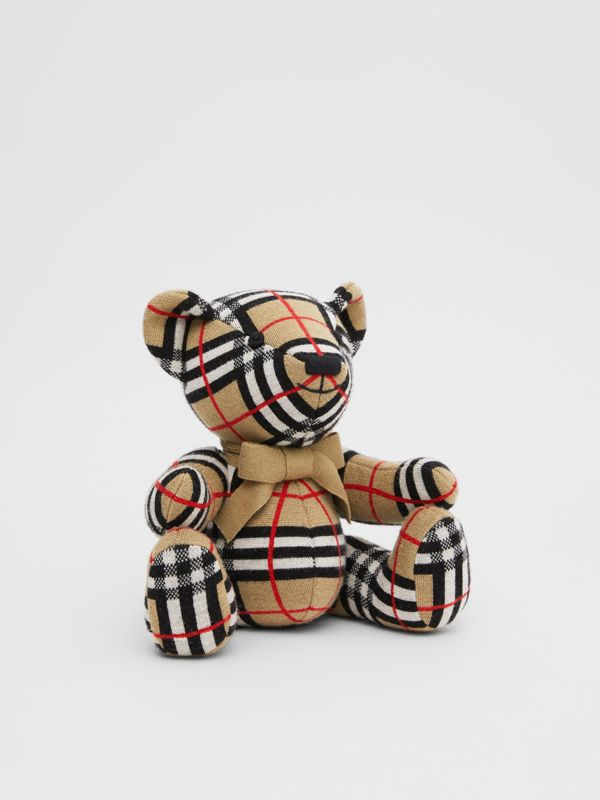 Check Merino Wool Thomas Bear in Archive Beige - Children | Burberry United States - cell image 3