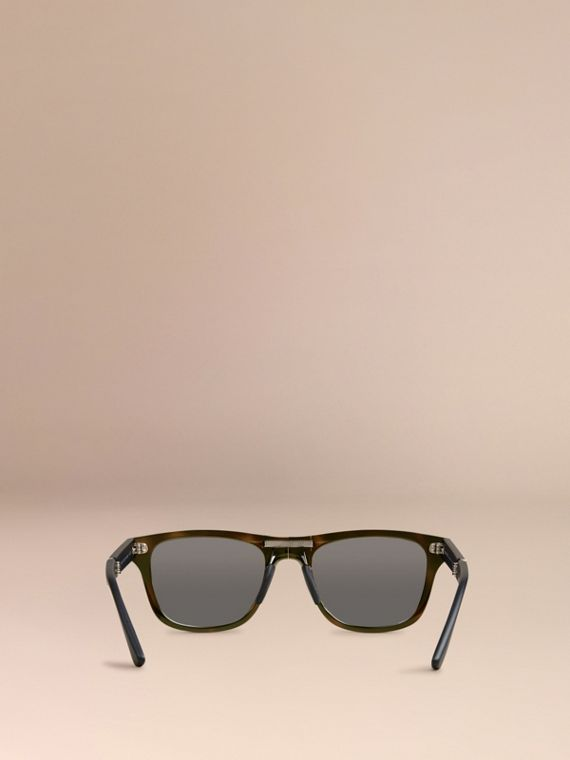 Folding Rectangular Frame Polarised Sunglasses in Grey - Men | Burberry Australia - cell image 3