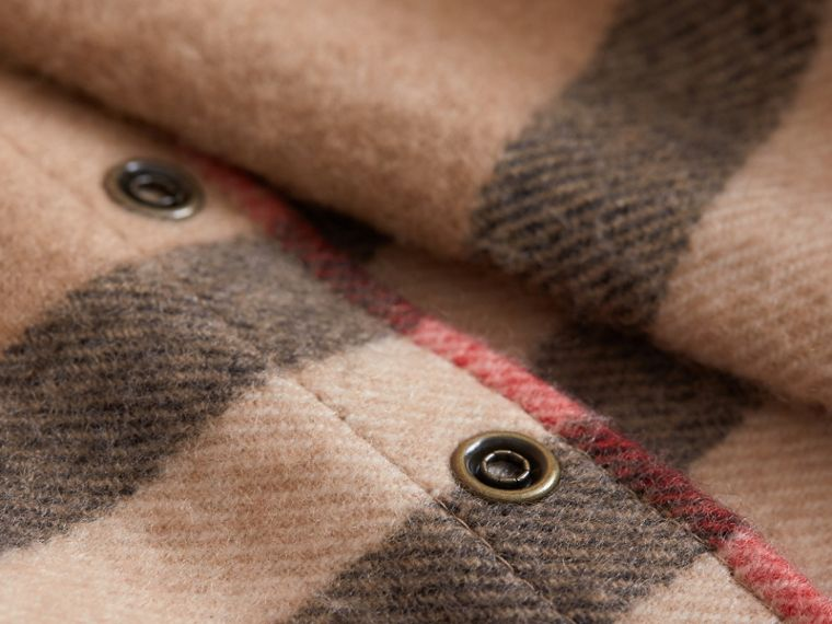 Exploded Check Cashmere Snood in Camel | Burberry - cell image 2
