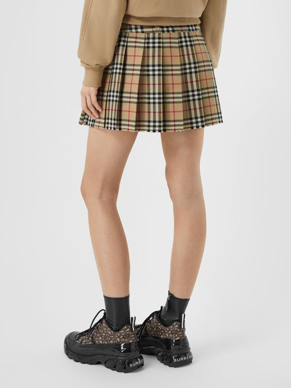 Vintage Check Wool Twill Kilt in Archive Beige - Women | Burberry United Kingdom - cell image 2