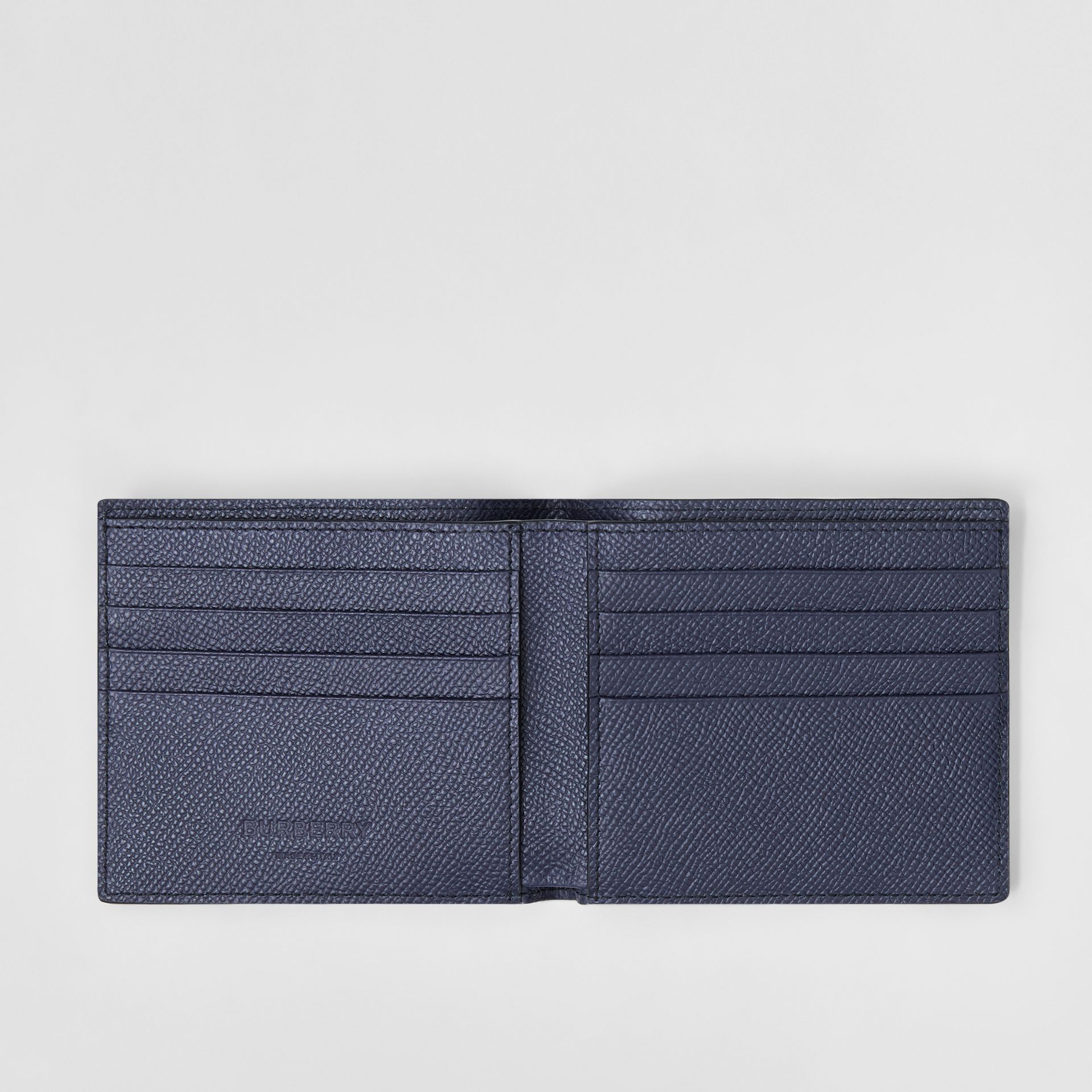 Grainy Leather International Bifold Wallet in Regency Blue - Men | Burberry - gallery image 2