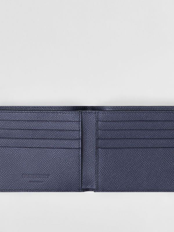 Grainy Leather International Bifold Wallet in Regency Blue - Men | Burberry - cell image 2