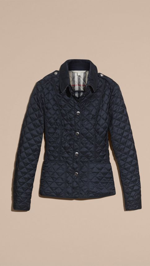 Ink Diamond Quilted Jacket Ink - Image 4