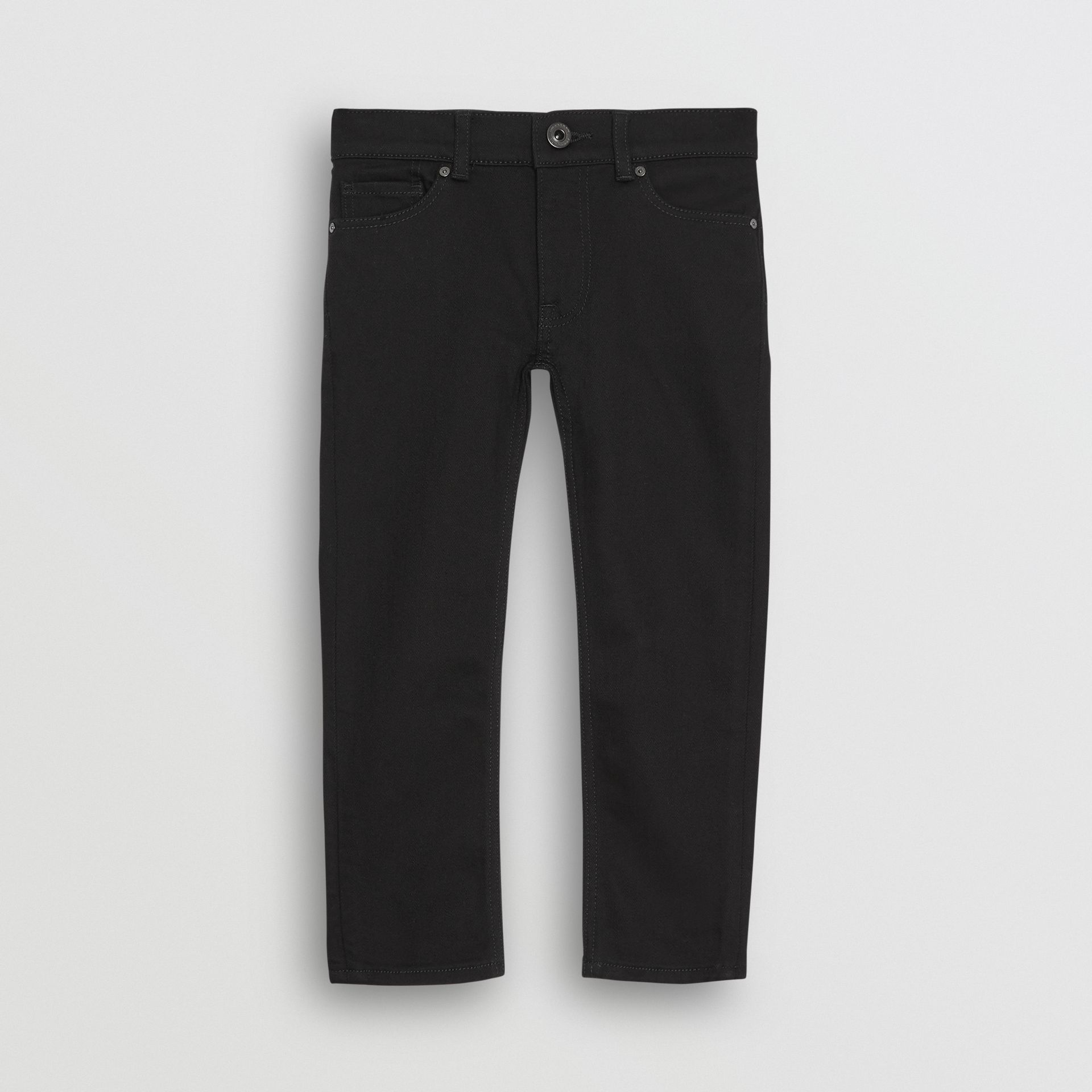 Skinny Fit Stretch Denim Jeans in Black - Boy | Burberry Canada - gallery image 0