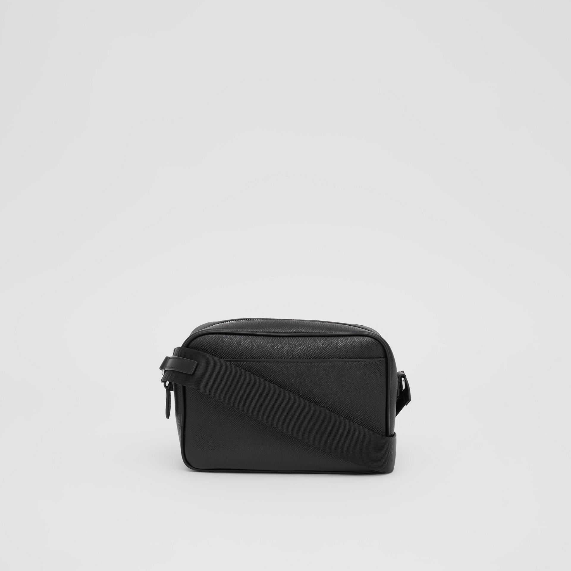 Grainy Leather Crossbody Bag in Black - Men | Burberry - gallery image 8