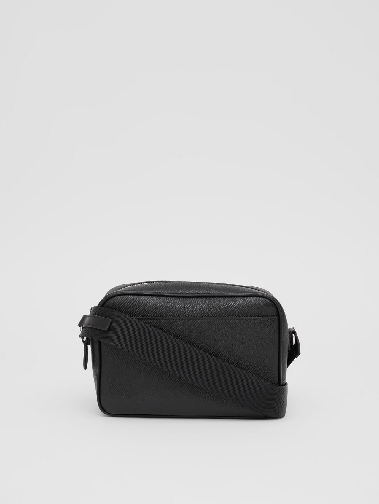 Grainy Leather Crossbody Bag (Black)
