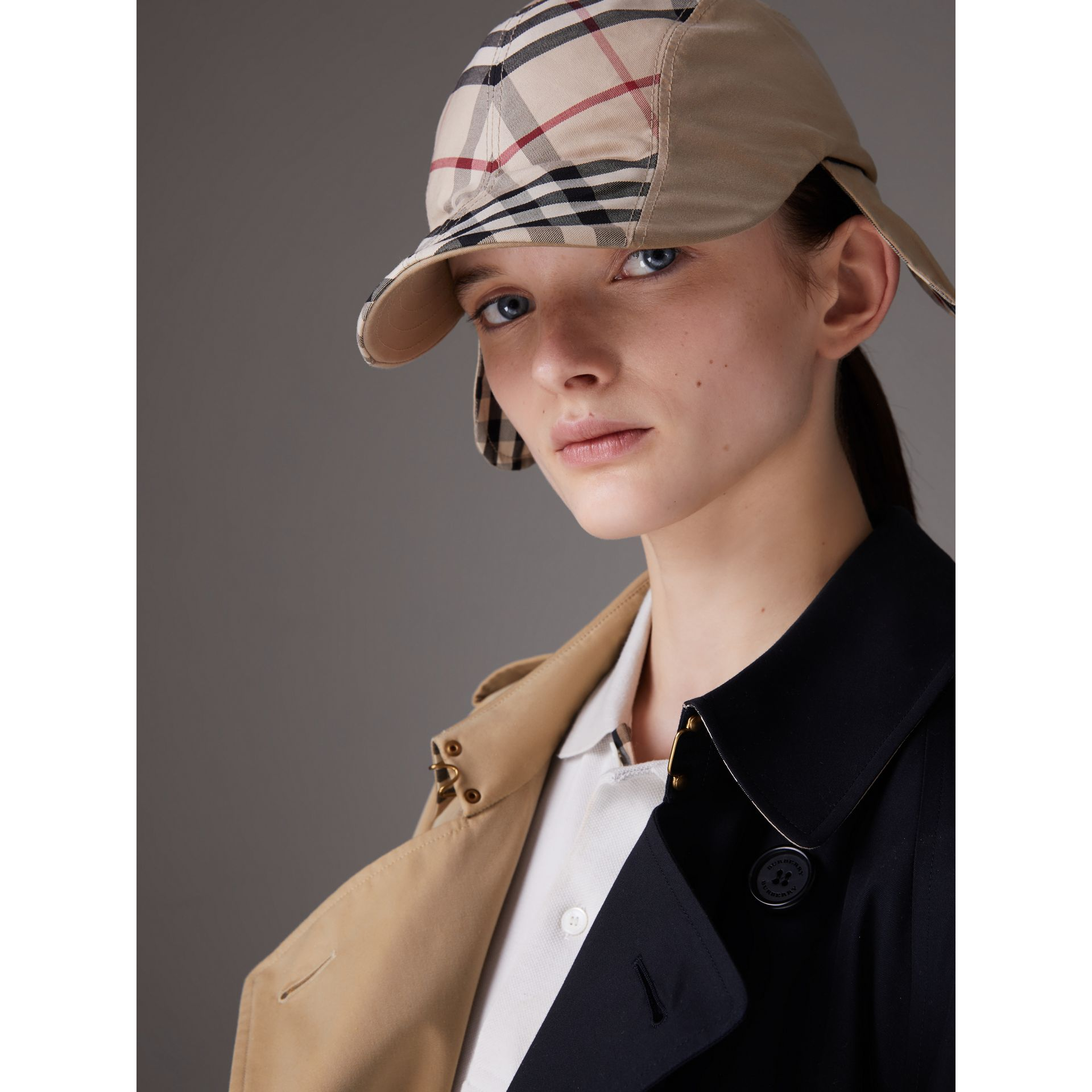 Gosha x Burberry Duckbill Cap in Honey | Burberry - gallery image 5