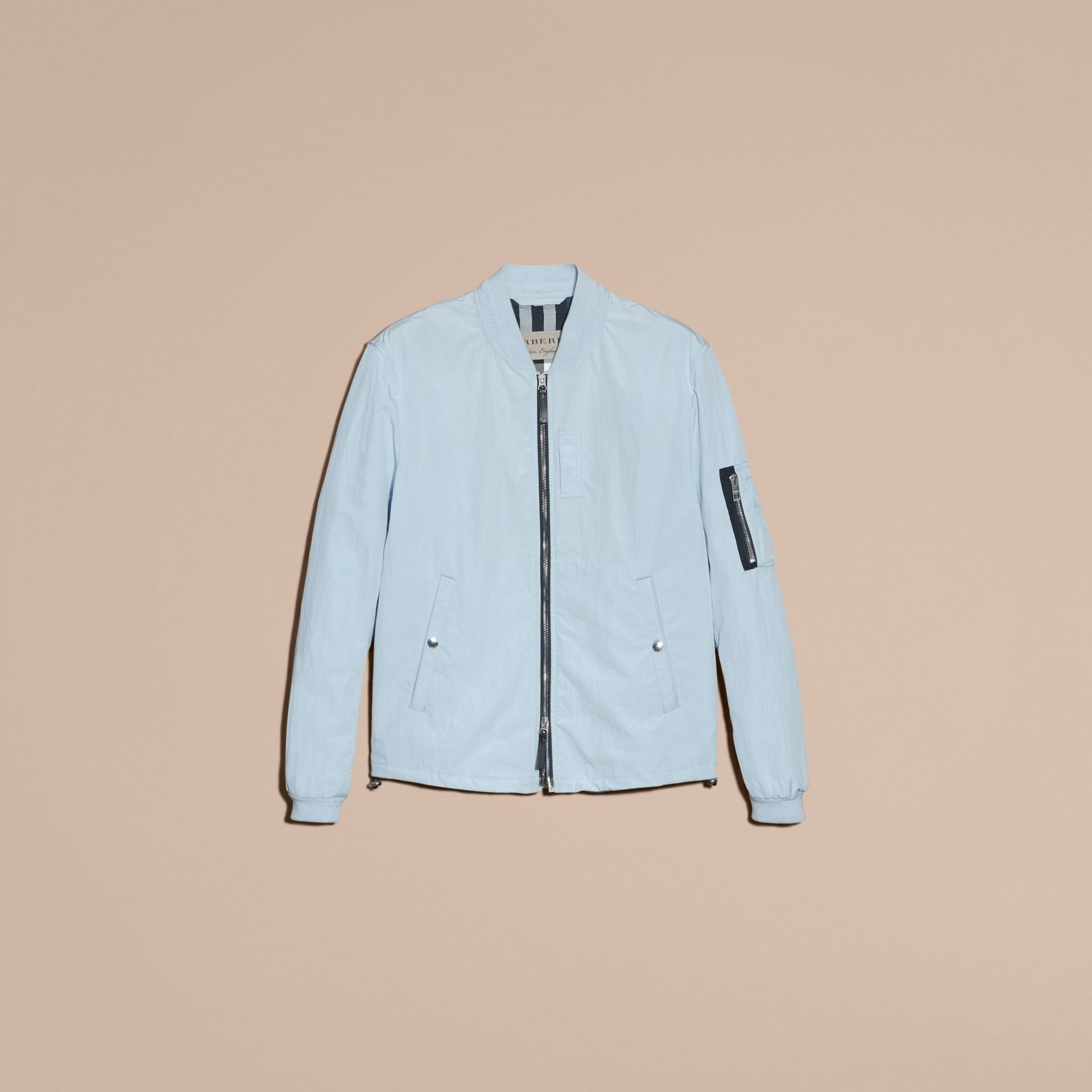 Light blue Lightweight Technical Bomber Jacket - gallery image 4
