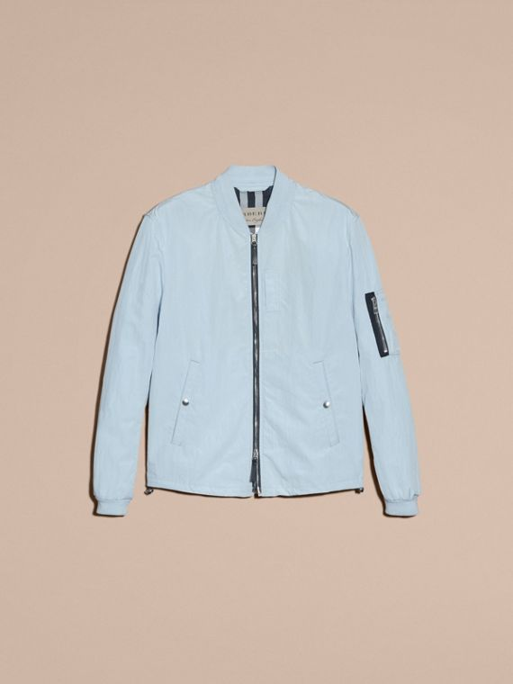 Light blue Lightweight Technical Bomber Jacket - cell image 3