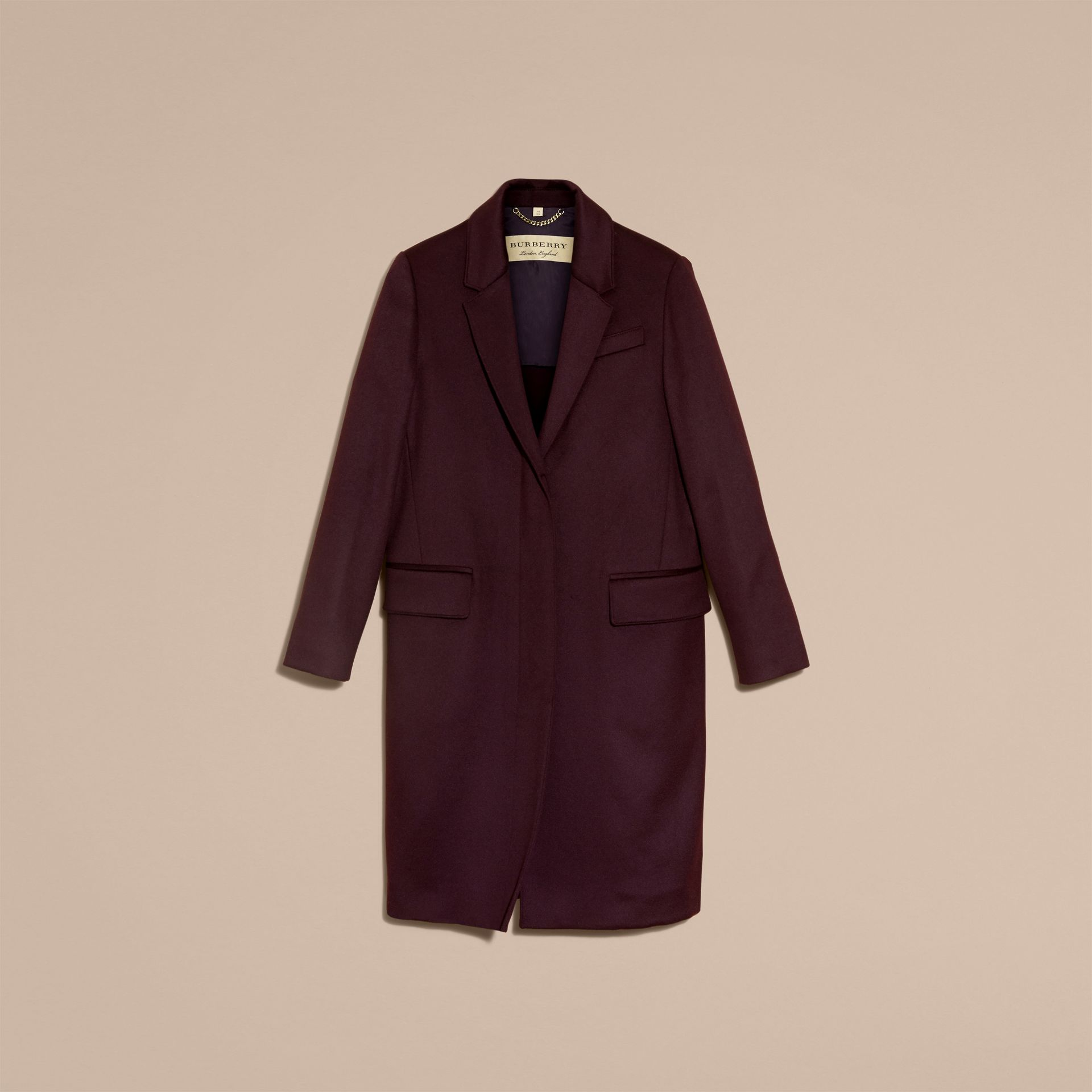 Dark elderberry Cashmere Tailored Coat Dark Elderberry - gallery image 4