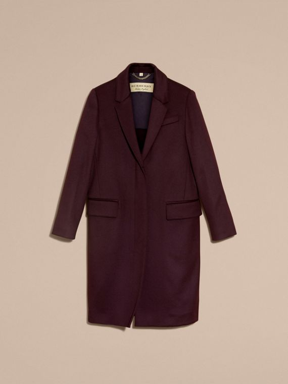 Dark elderberry Cashmere Tailored Coat Dark Elderberry - cell image 3