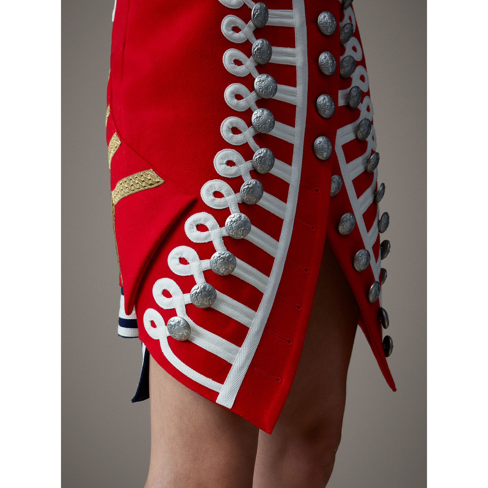 Wool Ceremonial Skirt in Military Red - Women | Burberry - gallery image 1