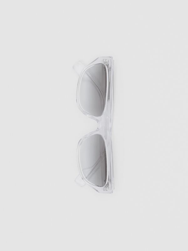 Monogram Motif Rectangular Frame Sunglasses in Crystal - Women | Burberry - cell image 3