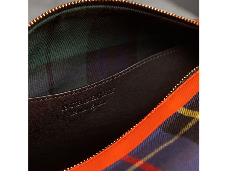 Tartan Cotton Pouch in Cobalt | Burberry Canada - cell image 4