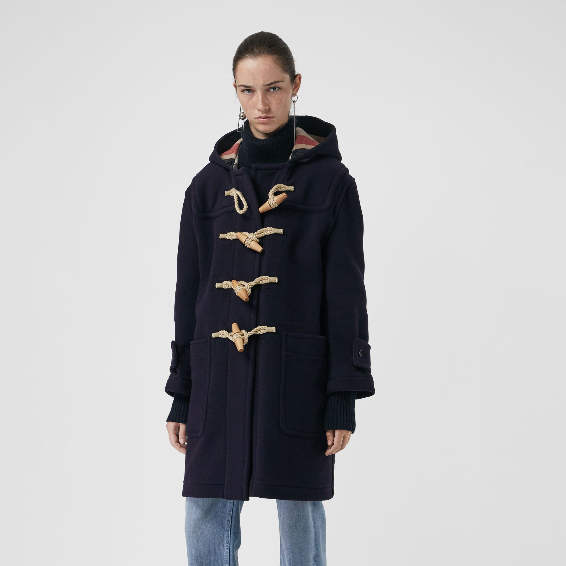 The Greenwich Duffle Coat in Navy - Women | Burberry Australia - gallery image 5