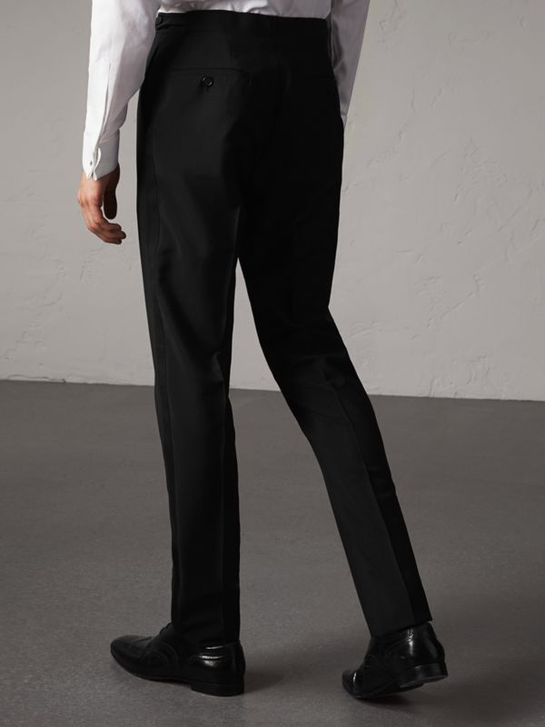 Slim Fit Wool Mohair Evening Trousers in Black - Men | Burberry Canada - cell image 2
