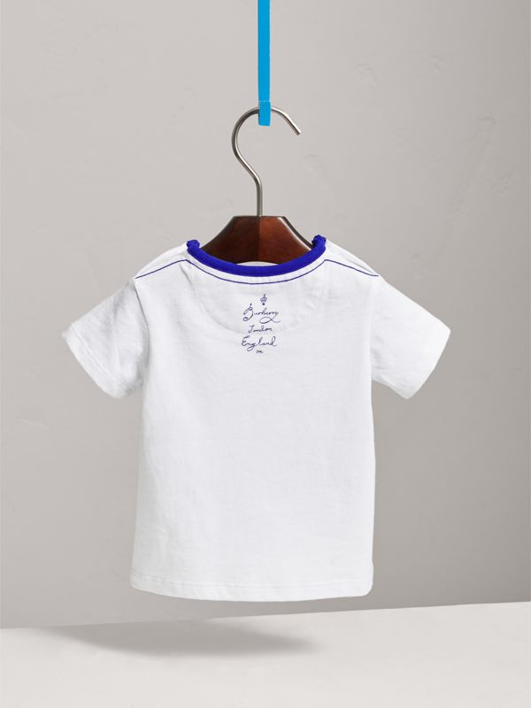 SW1 Print Cotton T-shirt in White | Burberry United Kingdom - cell image 3