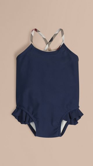 Check Trim Swimming Costume