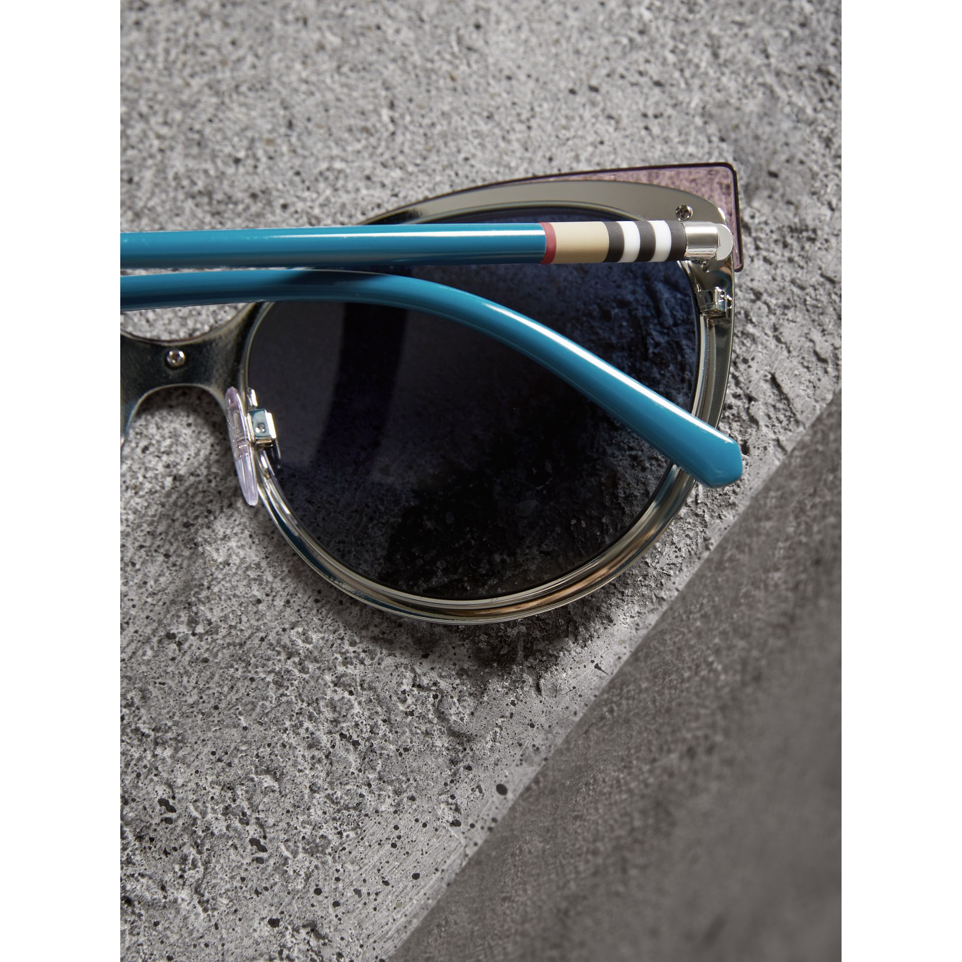 Two-tone Cat-eye Frame Sunglasses in Violet Blue - Women | Burberry Canada - gallery image 1
