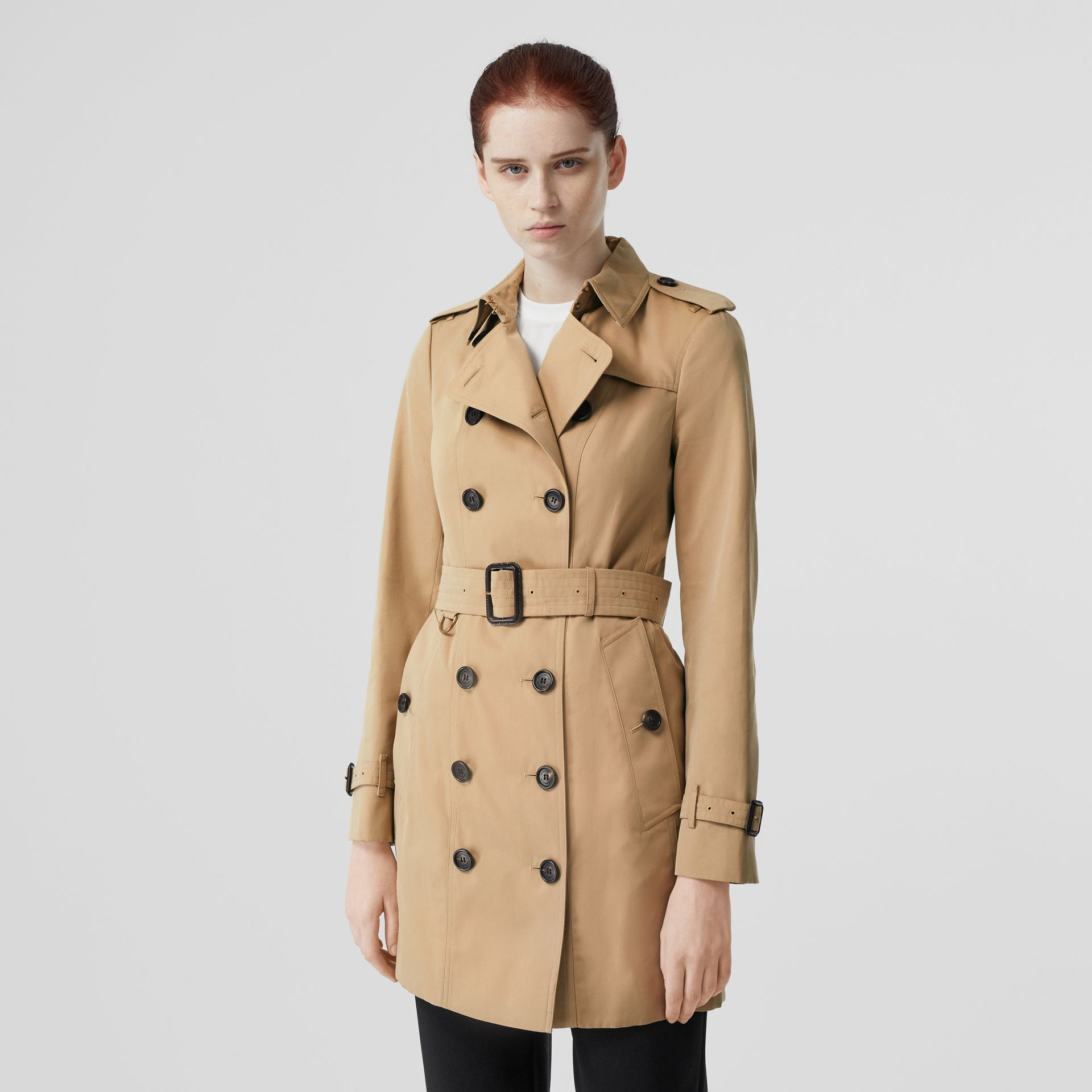 The Sandringham – Mid-length Trench Coat in Honey - Women | Burberry Singapore - gallery image 7