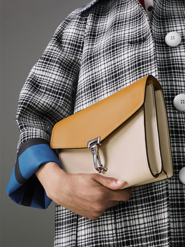 Two-tone Leather Crossbody Bag in Limestone/cornflower Yellow - Women | Burberry Hong Kong - cell image 3