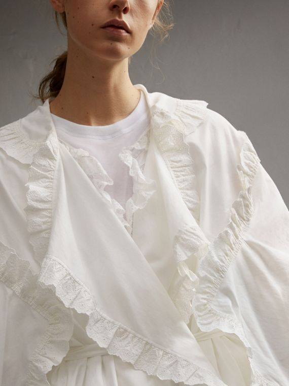 Broderie Anglaise Ruffle Cotton Dress