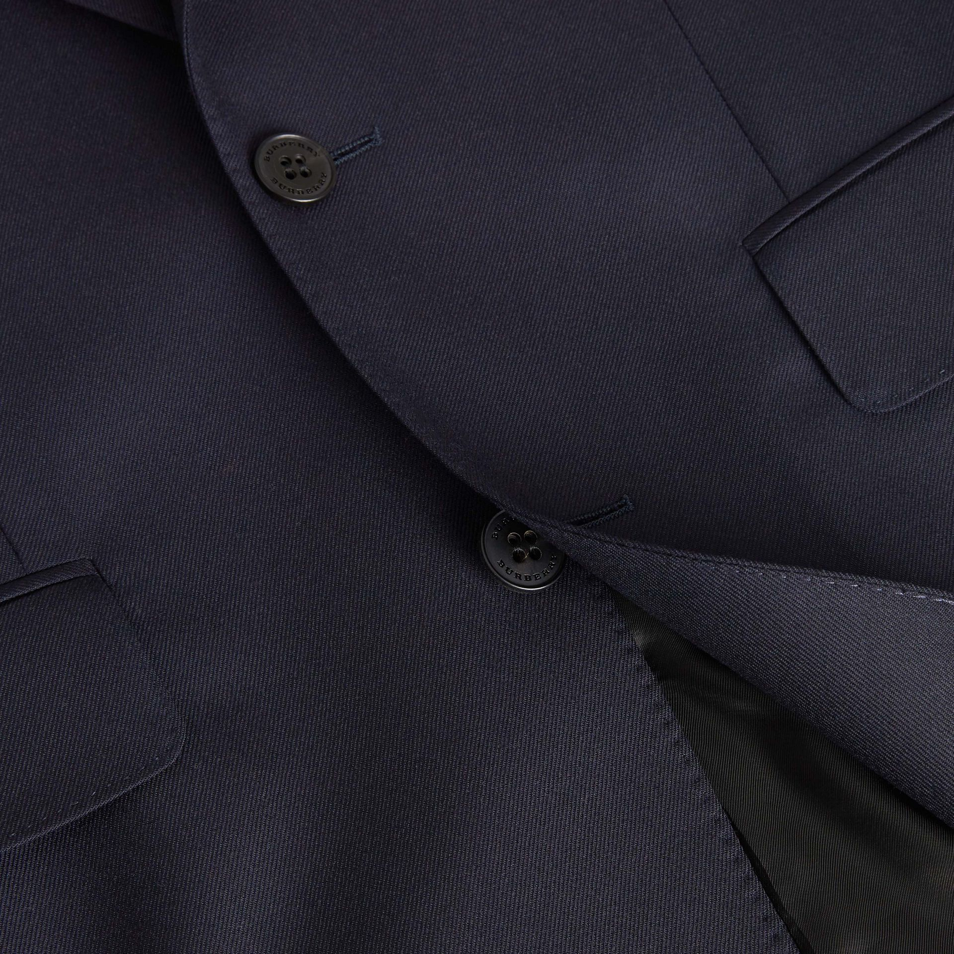 Classic Fit Wool Twill Suit in Navy - Men | Burberry - gallery image 9